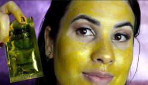 mascara de ouro